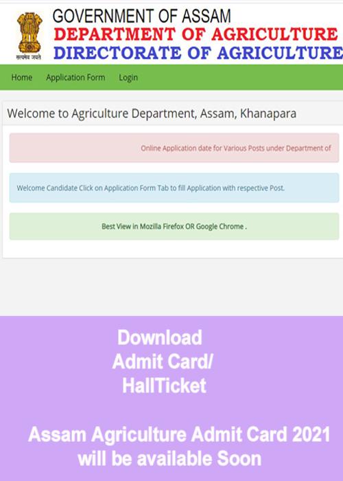 Assam Agriculture Admit Card 2021